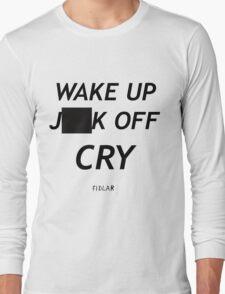 FIDLAR wake up ___ off cry censored shirt as seen on tv  Long Sleeve T-Shirt