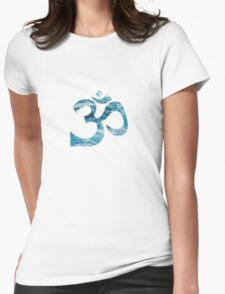 Ohm Ocean Blue Womens Fitted T-Shirt