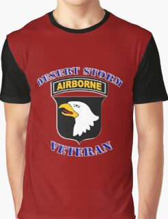 101st Airborne Desert Storm Veteran - iPad Case Graphic T-Shirt