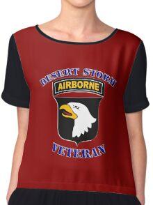 101st Airborne Desert Storm Veteran - iPad Case Chiffon Top