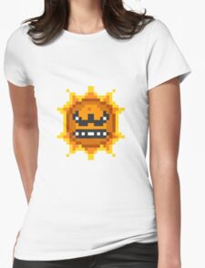 Mario Angry Sun Womens Fitted T-Shirt