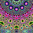 Bright Colorful Abstract Shapes by Phil Perkins