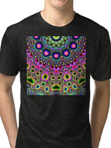 Bright Colorful Abstract Shapes Tri-blend T-Shirt