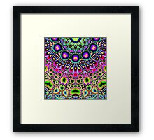 Bright Colorful Abstract Shapes Framed Print