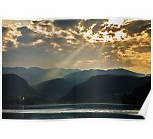 Angel rays over Lake Bled Poster