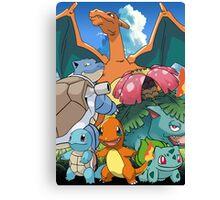 Pokémon 2 evolutions Canvas Print