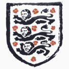 Three Moores on a T-Shirt - England Badge by rettop70