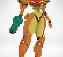 Samus Metroid 8Bit by izaksmells