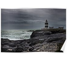 Hook Lighthouse Co. Wexford with steely grey clouds  Poster