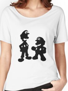 Mario and Luigi Silhouette Women's Relaxed Fit T-Shirt