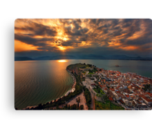 Restless skies - Nafplion Canvas Print