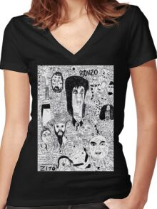 Elvira and the Gang Women's Fitted V-Neck T-Shirt