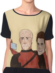 Deadpool & Spider-man Chiffon Top