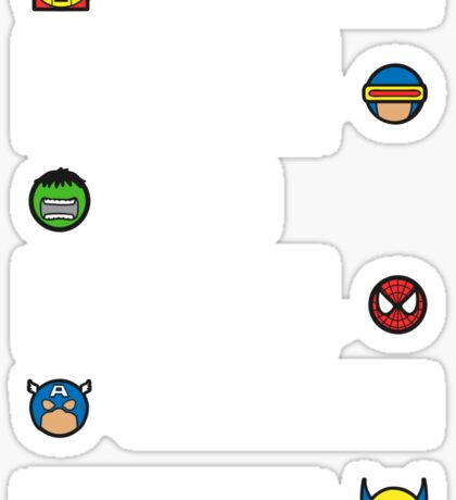 The worlds mightiest heroes... Sticker
