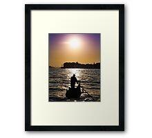Romantic Venice Sunset Gondola Framed Print