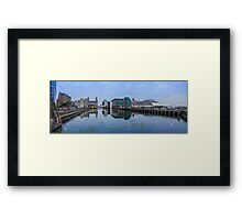 Princes dock and Queen Victoria Framed Print