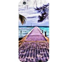 Rum Point Dock Cayman Islands iPhone Case/Skin