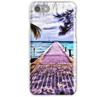 Rum Point Dock Cayman Islands iPhone Case/Skin