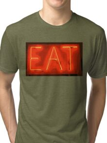 yellow/red eat sign Tri-blend T-Shirt
