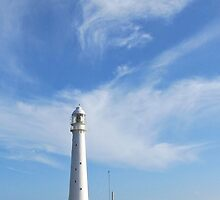 Lighthouse and clouds - phone case by Lee Jones
