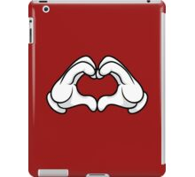 Mickey Hands Heart Love iPad Case/Skin