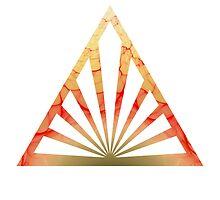 Orange Pyramid by Arca