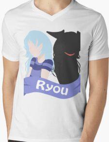 YuGiOh Hikaris and Yamis Bakura version Mens V-Neck T-Shirt
