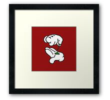 Mickey Hands Weed Framed Print