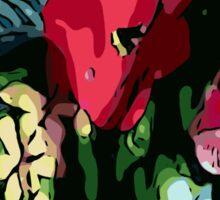 Garden flowers, poppy, colorful, jungle, color, gardening, jungle, rainforest, beautiful, summer Sticker