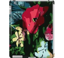 Garden flowers, poppy, colorful, jungle, color, gardening, jungle, rainforest, beautiful, summer iPad Case/Skin