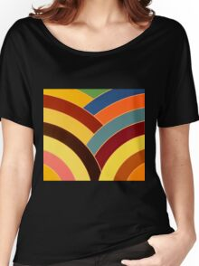 modern chic multi-colored chevron Women's Relaxed Fit T-Shirt
