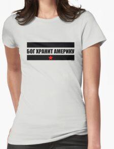 Бог хранит Америку (God Bless America) Womens Fitted T-Shirt