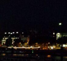 London at night Sticker