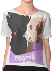 YuGiOh Hikaris and Yamis Marik version Chiffon Top