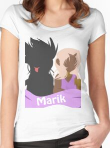 YuGiOh Hikaris and Yamis Marik version Women's Fitted Scoop T-Shirt