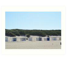 Beach houses. Art Print