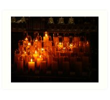 Candles Of Hope Art Print