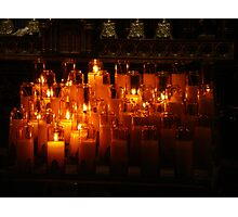 Candles Of Hope Photographic Print
