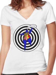 Niki de Saint Phalle Women's Fitted V-Neck T-Shirt