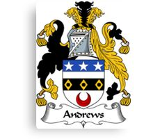 Andrews Coat of Arms / Andrews Family Crest Canvas Print