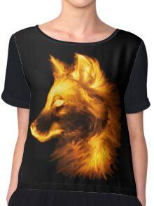 Gold wolf Chiffon Top