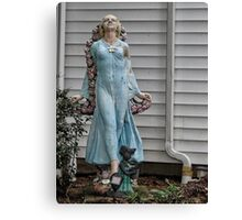 Front yard statue Canvas Print