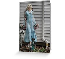 Front yard statue Greeting Card