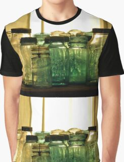 Old Glass Jars and Bottles Graphic T-Shirt