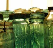 Old Glass Jars and Bottles Sticker