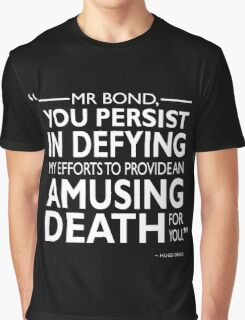 007 - An Amusing Death Graphic T-Shirt