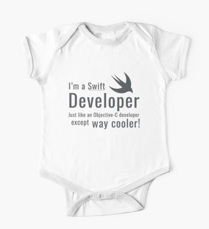 I'm a Swift Developer One Piece - Short Sleeve