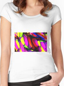 Life is Crazy Women's Fitted Scoop T-Shirt