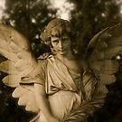 Angel on grave by Britta Döll