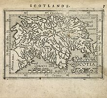 Antique Map of Scotland from 1603 by bluemonocle